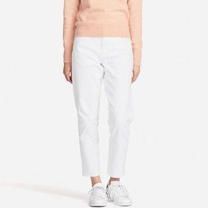 Uniqlo white Boyfriend Jeans